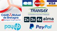 logos moyens de paiements