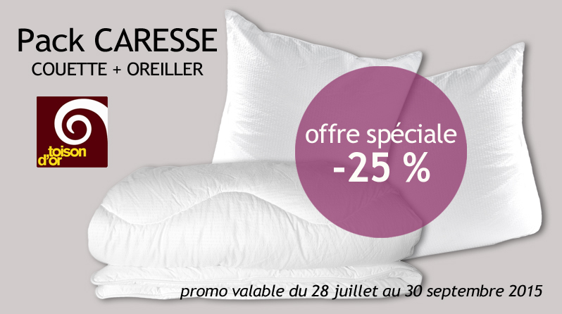 Pack couette + oreiller CARESSE