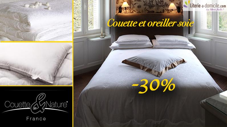 Couette & oreiller SOIE -30%